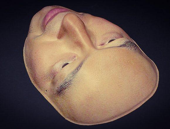 人の顔のお面「実写面」です