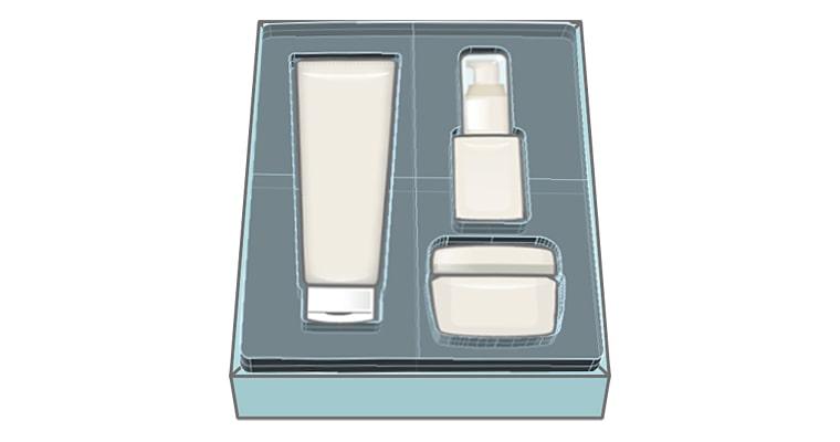 紙製容器から真空成形品のトレイに変える